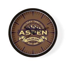 Aspen Sepia Wall Clock