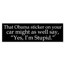Yes, Im Stupid Bumper Car Sticker