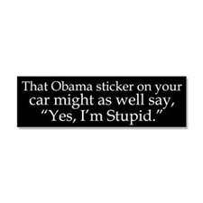Yes, Im Stupid Car Magnet 10 x 3