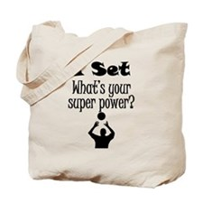 I Set (Volleyball) What's Your Super Power? Tote B