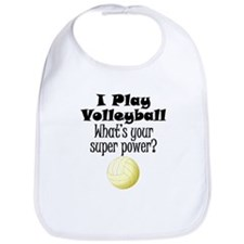 I Play Volleyball What's Your Super Power? Bib