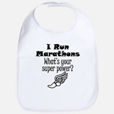 I Run Marathons What's Your Super Power? Bib