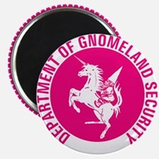 GNOMELAND SECURITYhot pink Magnet