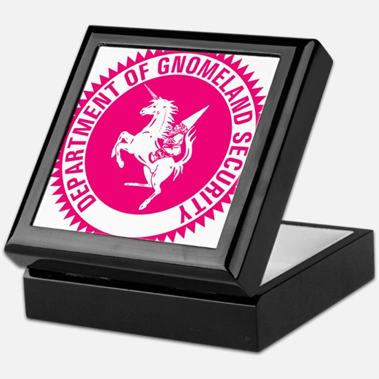 GNOMELAND SECURITYhot pink Keepsake Box