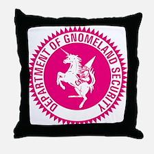 GNOMELAND SECURITYhot pink Throw Pillow