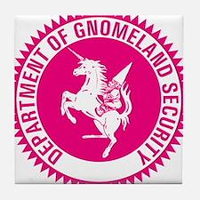 GNOMELAND SECURITYhot pink Tile Coaster