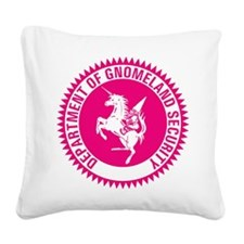GNOMELAND SECURITYhot pink Square Canvas Pillow