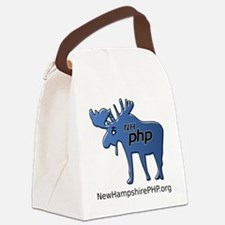 New Hampshire PHP Moose Logo with Canvas Lunch Bag