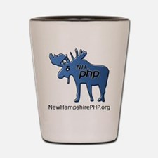 New Hampshire PHP Moose Logo with Web A Shot Glass