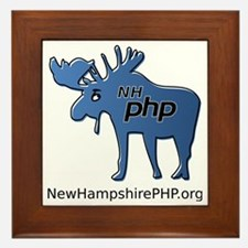 New Hampshire PHP Moose Logo with Web  Framed Tile