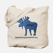 New Hampshire PHP Moose Logo with Web Add Tote Bag