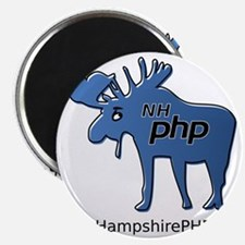 New Hampshire PHP Moose Logo with Web Addre Magnet