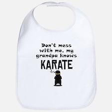 My Grandpa Knows Karate Bib