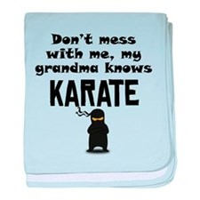 My Grandma Knows Karate baby blanket