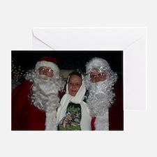 Roving Xmas Tree Santa's  Greeting Card