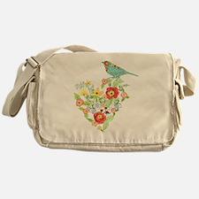 Ranunculus Daisy Rose Flower Heart B Messenger Bag