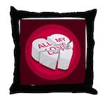 All My Love Broken Heart Throw Pillow