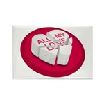 All My Love Broken Heart Rectangle Magnet (100 pac