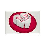 All My Love Broken Heart Rectangle Magnet (10 pack