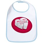 All My Love Broken Heart Bib
