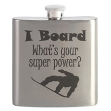 I Board (Snowboard) What's Your Super Power? Flask