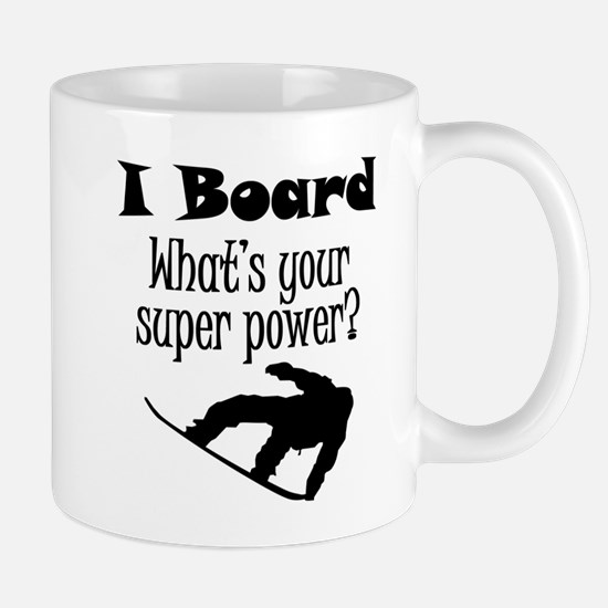 I Board (Snowboard) What's Your Super Power? Mugs