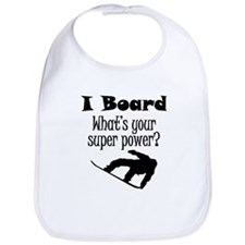 I Board (Snowboard) What's Your Super Power? Bib