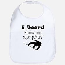 I Board (Snowboard) What's Your Super Power? Bib