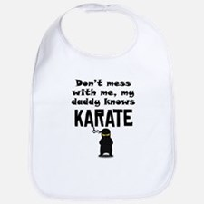 My Daddy Knows Karate Bib