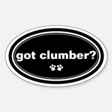 Got Clumber? Oval Decal