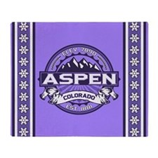 Aspen Violet Throw Blanket
