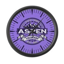 Aspen Violet Large Wall Clock