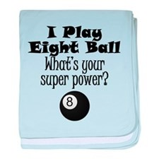 I Play Eight Ball What's Your Super Power? baby bl