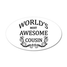 World's Most Awesome Cousin Wall Decal