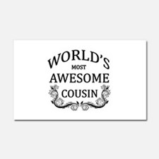 World's Most Awesome Cousin Car Magnet 20 x 12