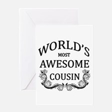 World's Most Awesome Cousin Greeting Card