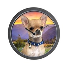 Chihuahua Meadow (blanket) Wall Clock