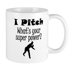 I Pitch (Baseball) What's Your Super Power? Mugs