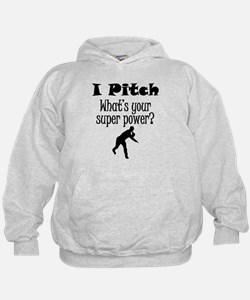I Pitch (Baseball) What's Your Super Power? Hoodie