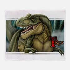 trex2_wtext Throw Blanket