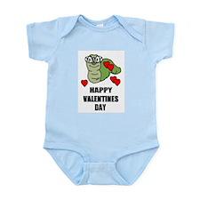 VALENTINES DAY BOOKWORM STYLE Infant Bodysuit