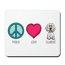 Peace Love & Clumbers Mousepad