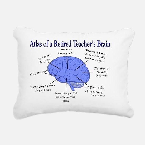 Atlas of a Retired Teach Rectangular Canvas Pillow