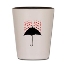 Cute Umbrella with Hearts Shot Glass