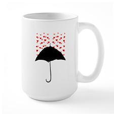 Cute Umbrella with Hearts Mugs