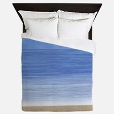 Blue Ocean Beach Queen Duvet