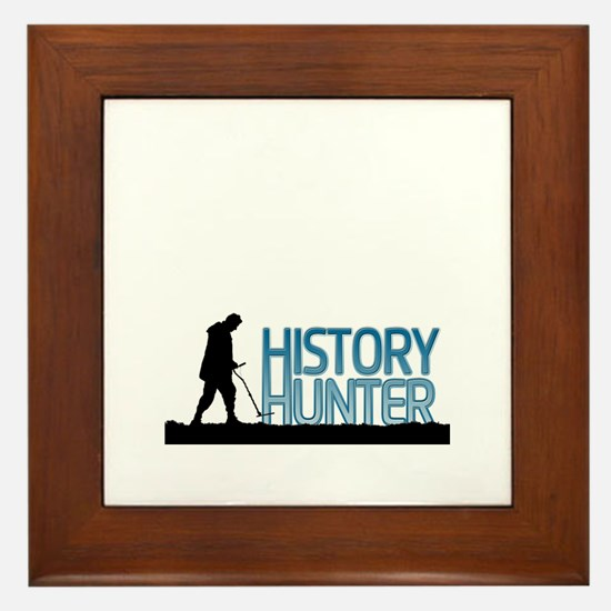 Metal Detecting History Hunter Framed Tile