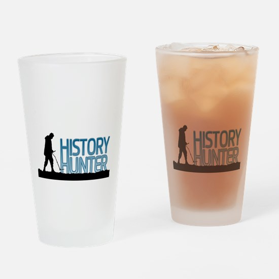 Metal Detecting History Hunter Drinking Glass