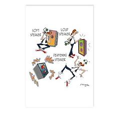 Loud Speaker, Deafening Speaker Postcards (Package