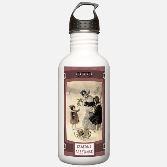 Victorian Christmas ph Water Bottle